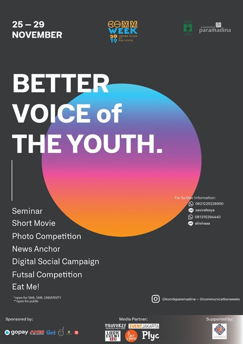 "Communication Week 2019 ""Better voice of the youth"""