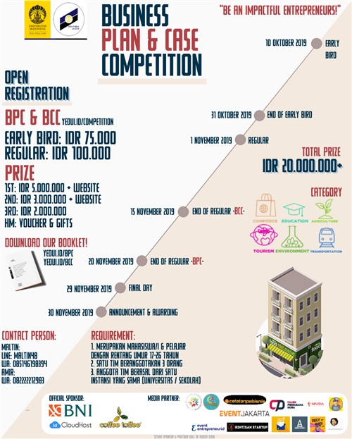 Business Plan & Case Competition Young Entrepreneur Days 2019