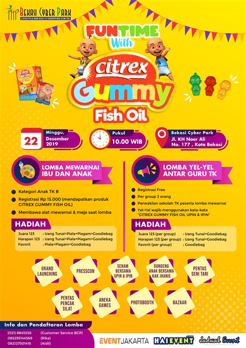 Funtime with Citrex Gummy Fish Oil 2019