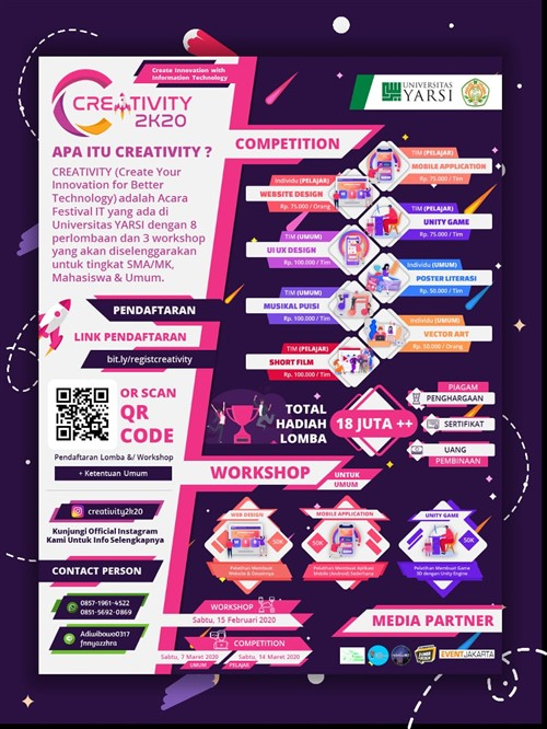 "Creativity 2K20 ""Create Your Inovation For Better Technology"""