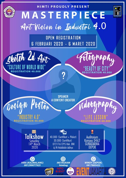 Masterpiece Art Vision in Industri 4.0