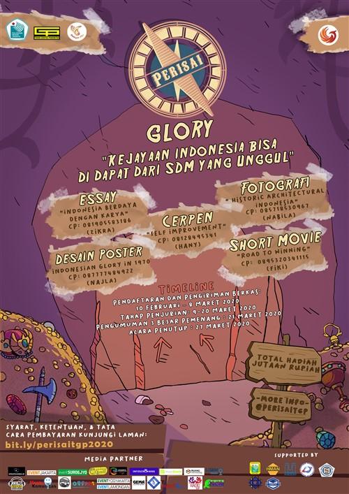 """Glory """"Kejayaan Indonesia Bisa di Dapat Dari SDM yang Unggul"""""""