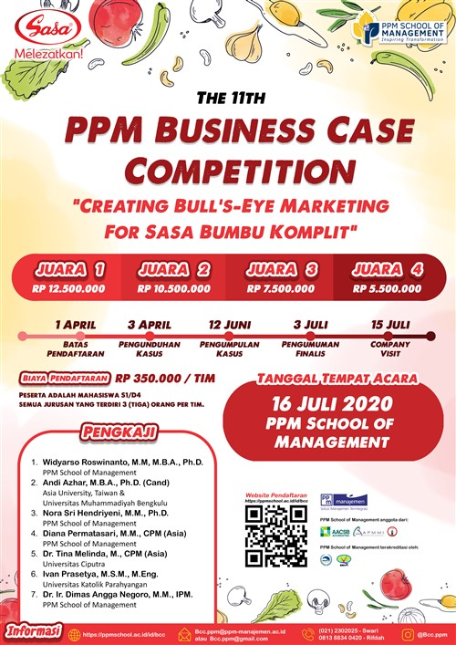 "The 11th PPM Business Case Competition ""Creating Bull's – Eye Marketing for SASA SUMBU KOMPLIT"""