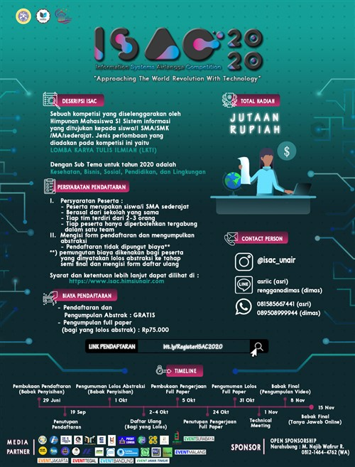 ISAC 2020, Information System Airlangga Competition