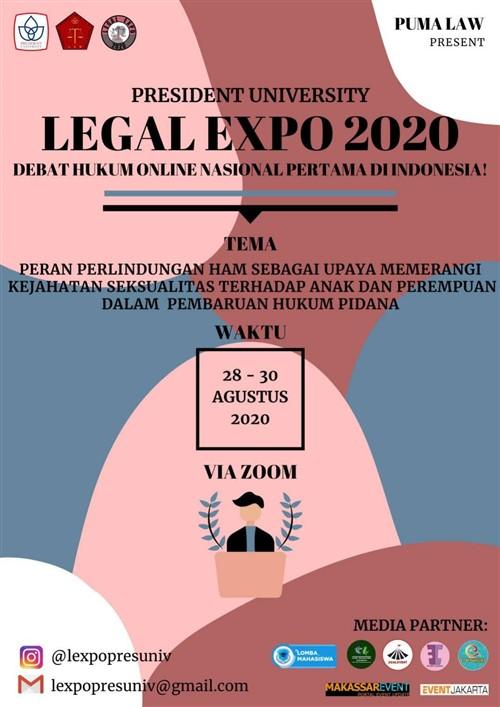 LEGAL EXPO 2020, Debat Hukum Online Nasional Pertama di Indonesia