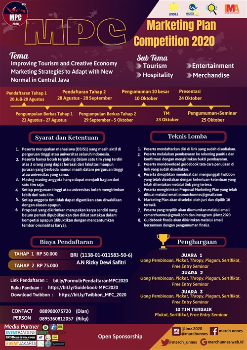 MPC 2020 : Marketing Plan Competition