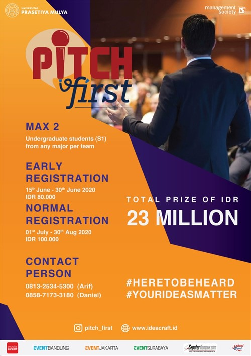 """PITCH FIRST : """"National Business Pitching Competition"""""""
