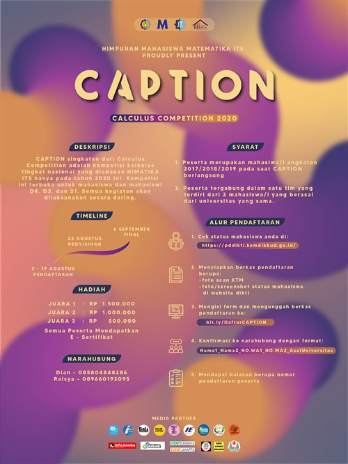 CAPTION, Calculus Competition 2020